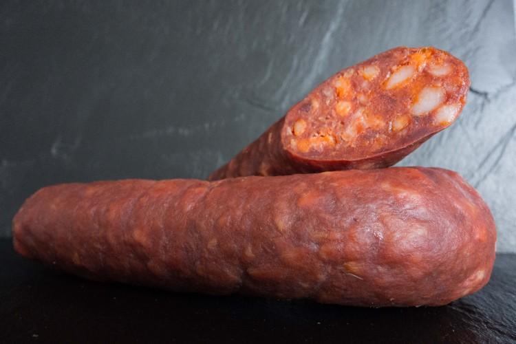 Penne mit Chorizo und Aubergine