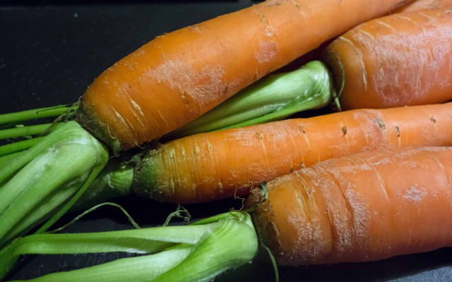 Gebratene Karotten mit Cashewkernen